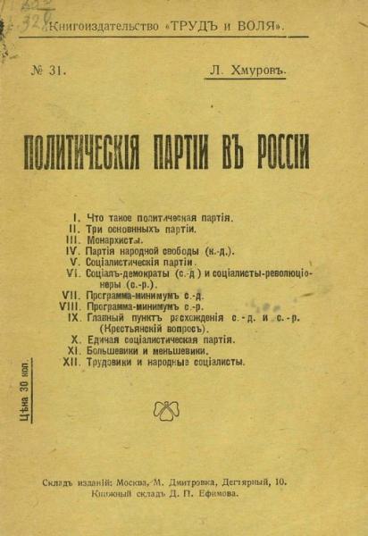 Политические партии в России